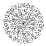 Mandala kwiaty jasne