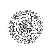 Mandala kwiat mały