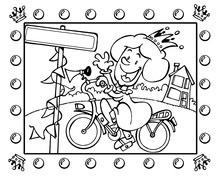 Królowa na rowerze