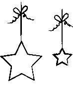 Bombki w kształcie gwiazdek