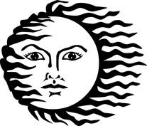 Słońce twarz kobieca