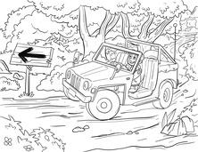 Auto SUV w terenie