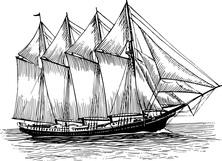 Żaglowiec na morzu