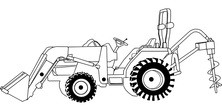 Traktor szkic