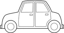Małe auto szablon