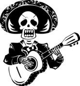 Szkielet z gitarą