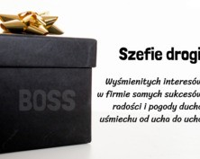 Kartka z życzeniami dla szefa