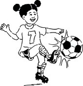 Młoda piłkarka