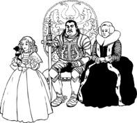 Księżniczka, król i królowa
