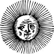 Słońce starsza twarz