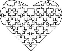 Serce z puzzli