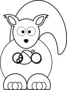 Wiewiórka z żołędziem