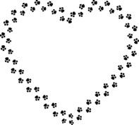 Serce z psich łapek