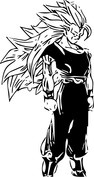 Anime skupiony wojownik