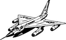 Samolot wojskowy bok