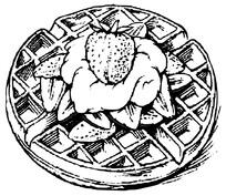 Gofr z truskawkami