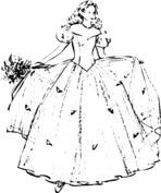 Księżniczka w sukni balowej