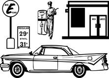 Stacja benzynowa retro