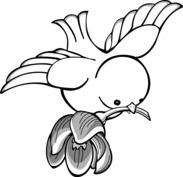 Ptaszek szablon