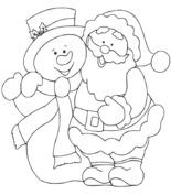 Bałwan i św. Mikołaj