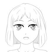 Anime twarz okrągła