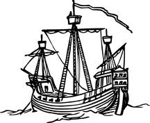 Samotny statek