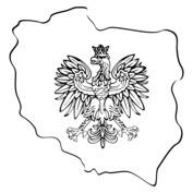Mapa Polski z godłem