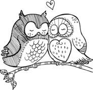 Zakochane sowy