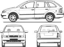 Auto z trzech stron