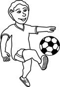 Młody piłkarz