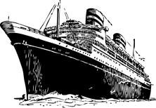 Statek pasażerski z dołu