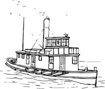 Statek szkic