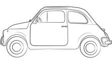 Małe auto z boku