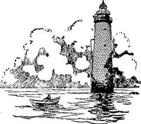 Łódka przy latarni