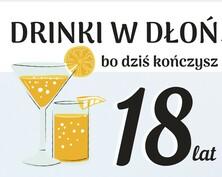 Kartka z drinkiem na 18