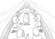 Jezus naucza na łodzi