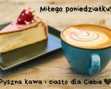 Kartka na poniedziałek z kawą