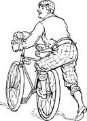 Starszy rowerzysta