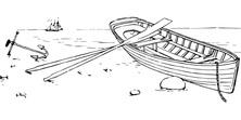 Łódka na brzegu