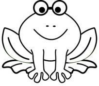 Uśmiechnięta żaba