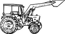 Traktor stojący