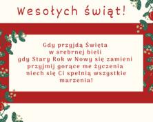 Wesołych Świąt kartka