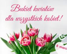 Bukiet kwiatów dla wszystkich kobiet kartka