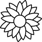 Słonecznik szablon