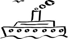 Mały statek szkic