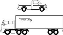 Dwie ciężarówki