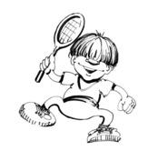 Wesoły tenisista