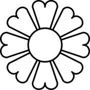 Kwiat szablon