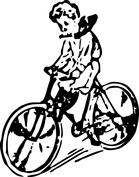 Chłopiec na rowerze