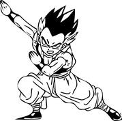 Anime ćwiczący wojownik